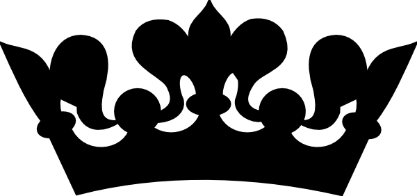 Princess crown clipart png. Black and white panda
