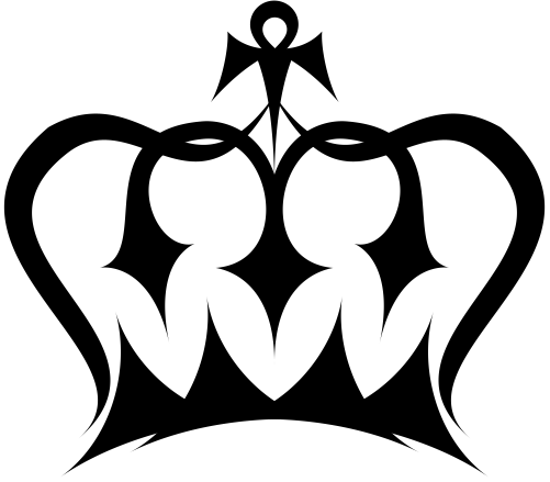 Black king crown png. And white images in