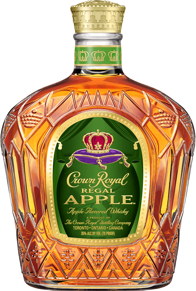 Crown royal png. Canadian whisky regal apple
