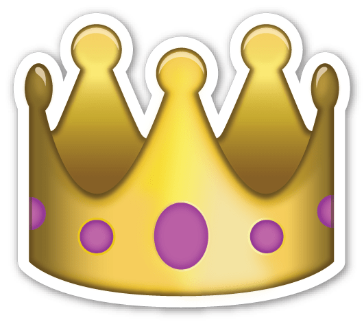 Emojis tumblr png. Emoji crown sticker transparent