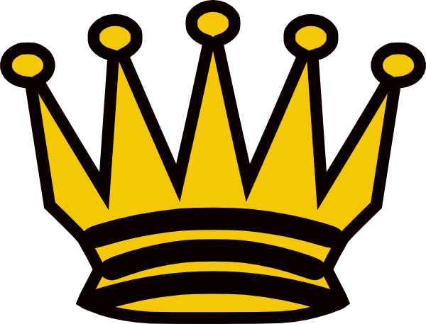 Crowns clipart yellow. Black and crown clip