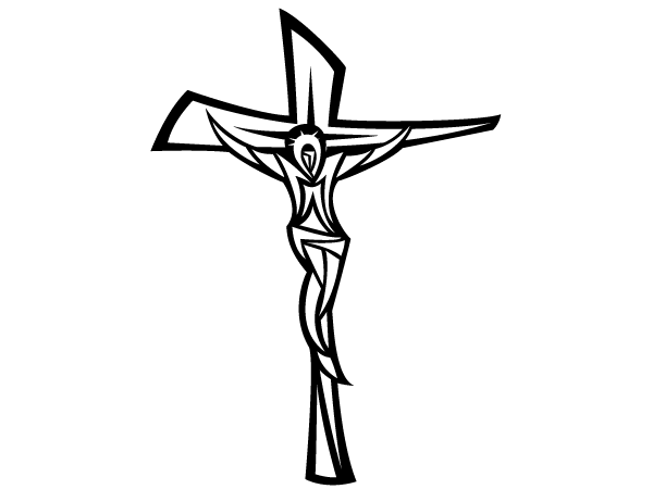 Crucifix clipart. Black and white panda