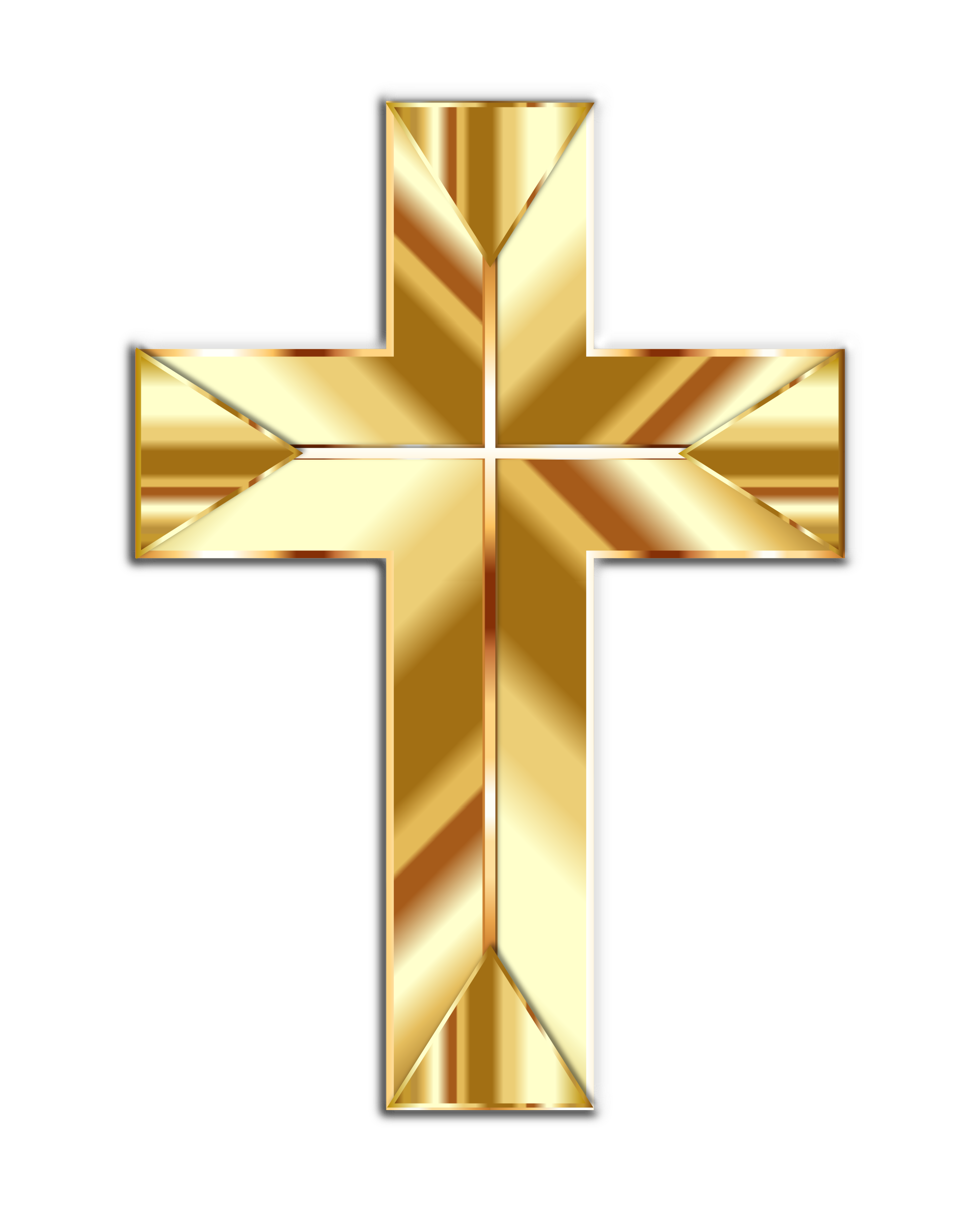 Crucifix clipart big cross. Golden fixed image png