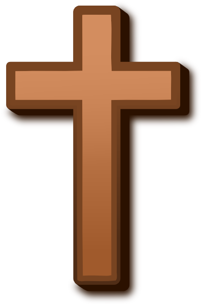 Crucifix clipart large cross. Brown clip art at
