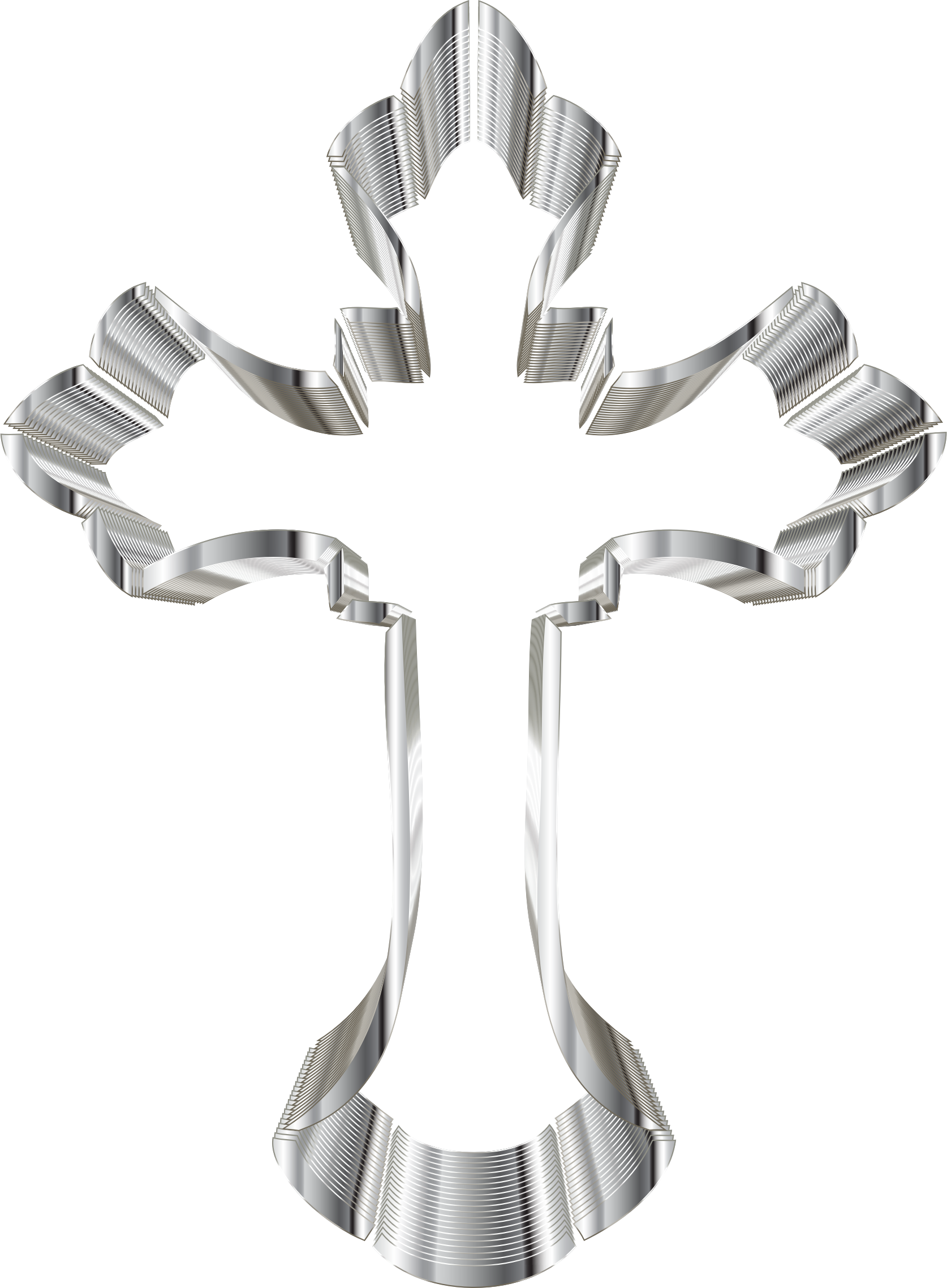 Ornate cross png. Clipart chrome no background