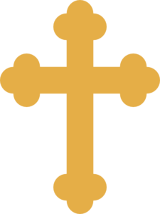Crucifix vector baptism. Collection of free cholic