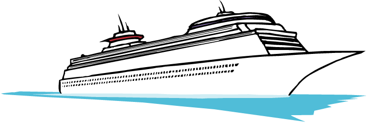 Cruise clipart black and white. Luxury ship