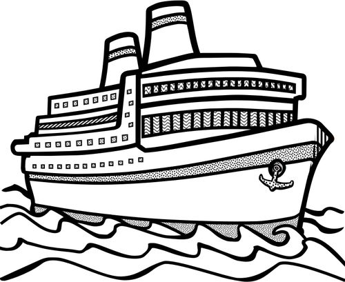 Cruise clipart large ship. Best maritimt images