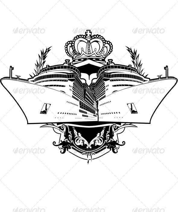 Cruise clipart party boat. Luxury vacation sign by
