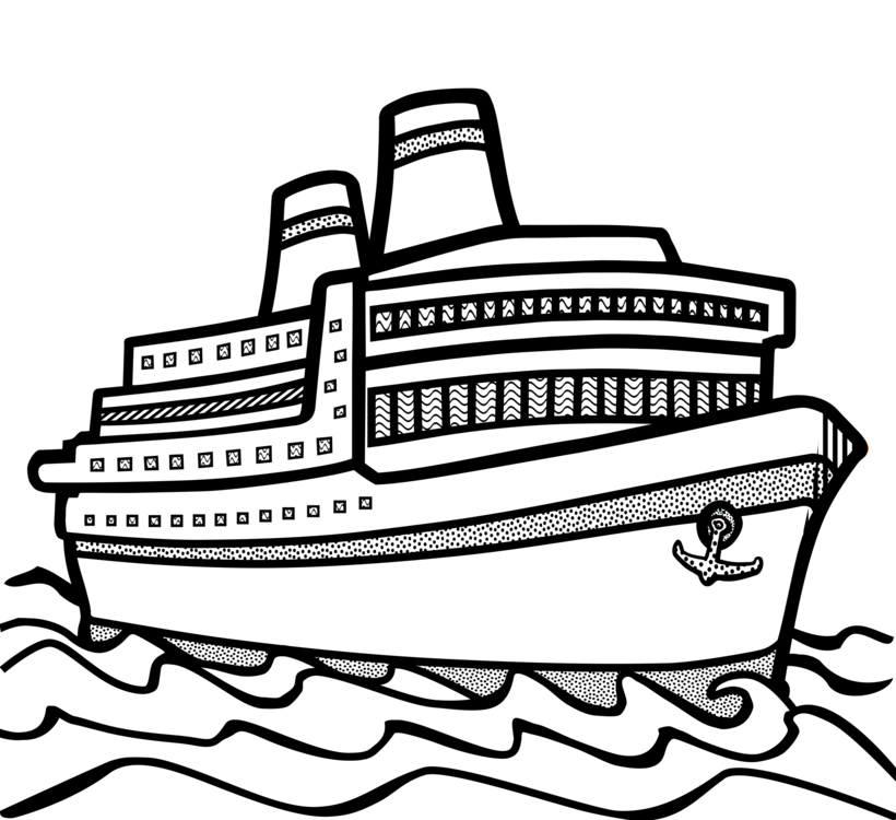 Cruise drawing. Ship boat watercraft free