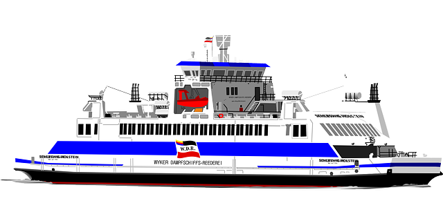 Cruise drawing car ferry. Collection of free ferries