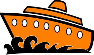 Cruise drawing large ship. Clip art vector online