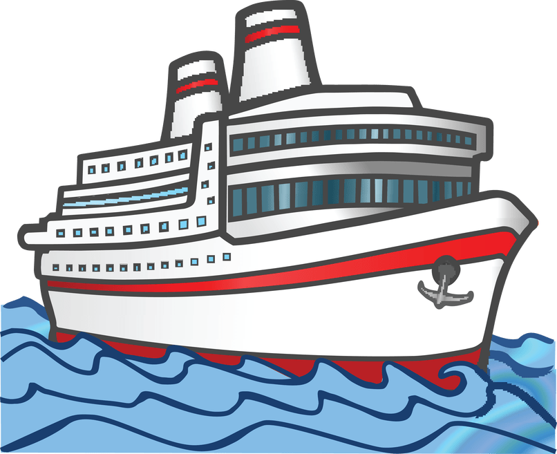 Cruise drawing marine ship. Carnival clipart transparent