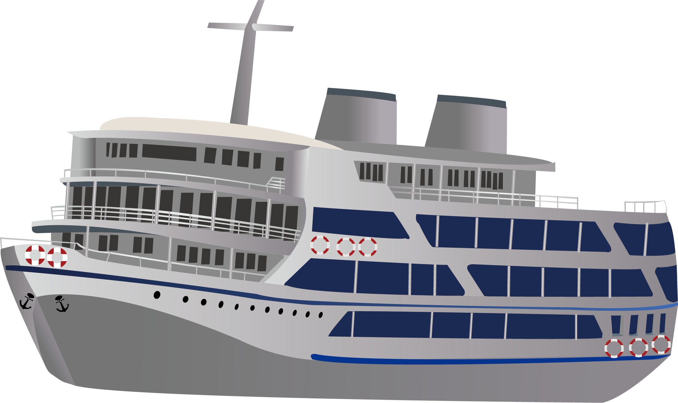 Cruise drawing passenger vessel. Sailboat motorboat clip art