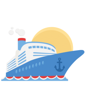 Cruise drawing side view. Ship svg scrapbook cut