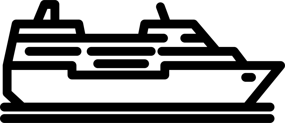 Cruise ship black and white png. Svg icon free download