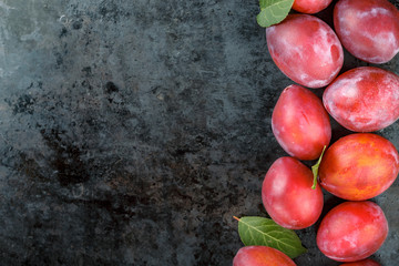 Crumpled nectarine. Search photos plums and