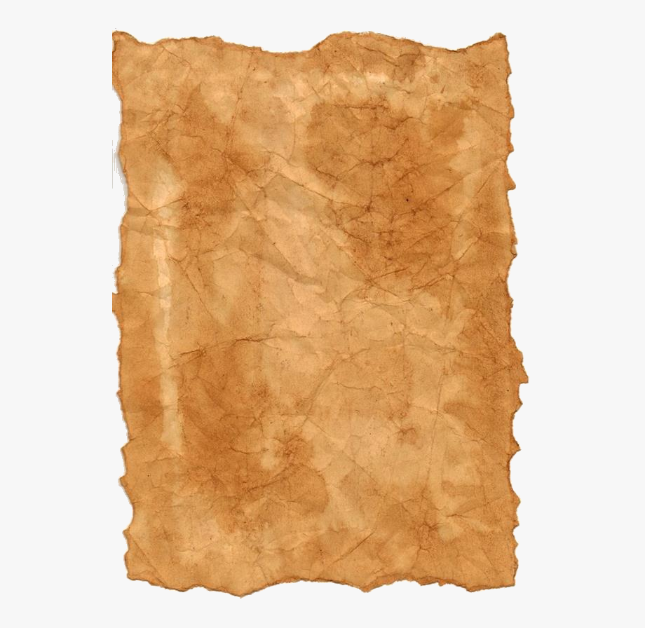 Crumpled orange. Dirty old paper texture