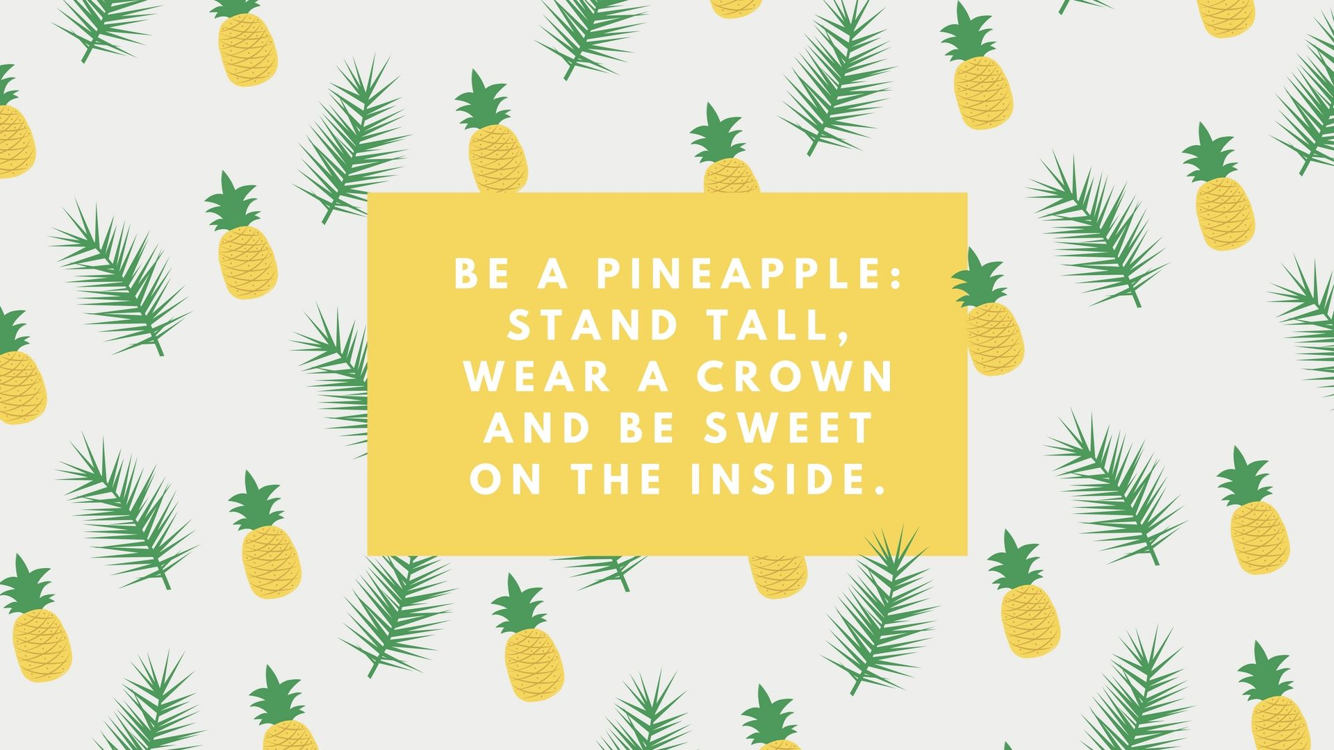 Crumpled pineapple. Be a stand tall