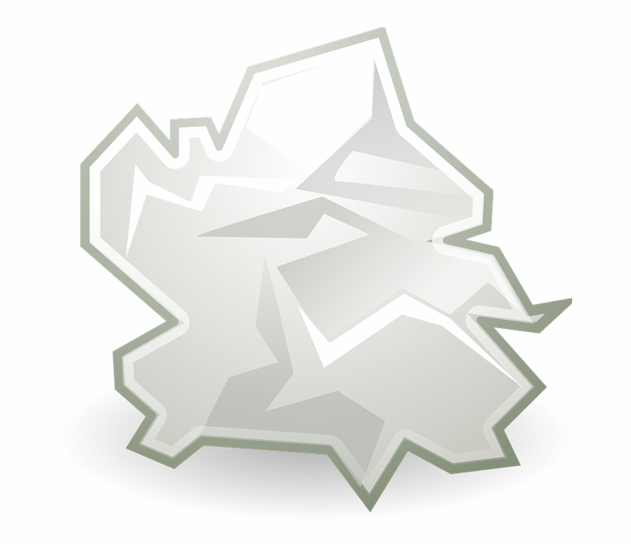 Crumpled pineapple. Trash paper icon green