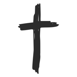 Icono de garabato cristiana. Cruz png jpg black and white download