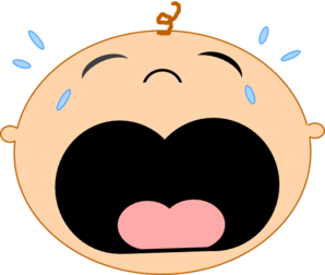 Crying clipart. Cry baby face