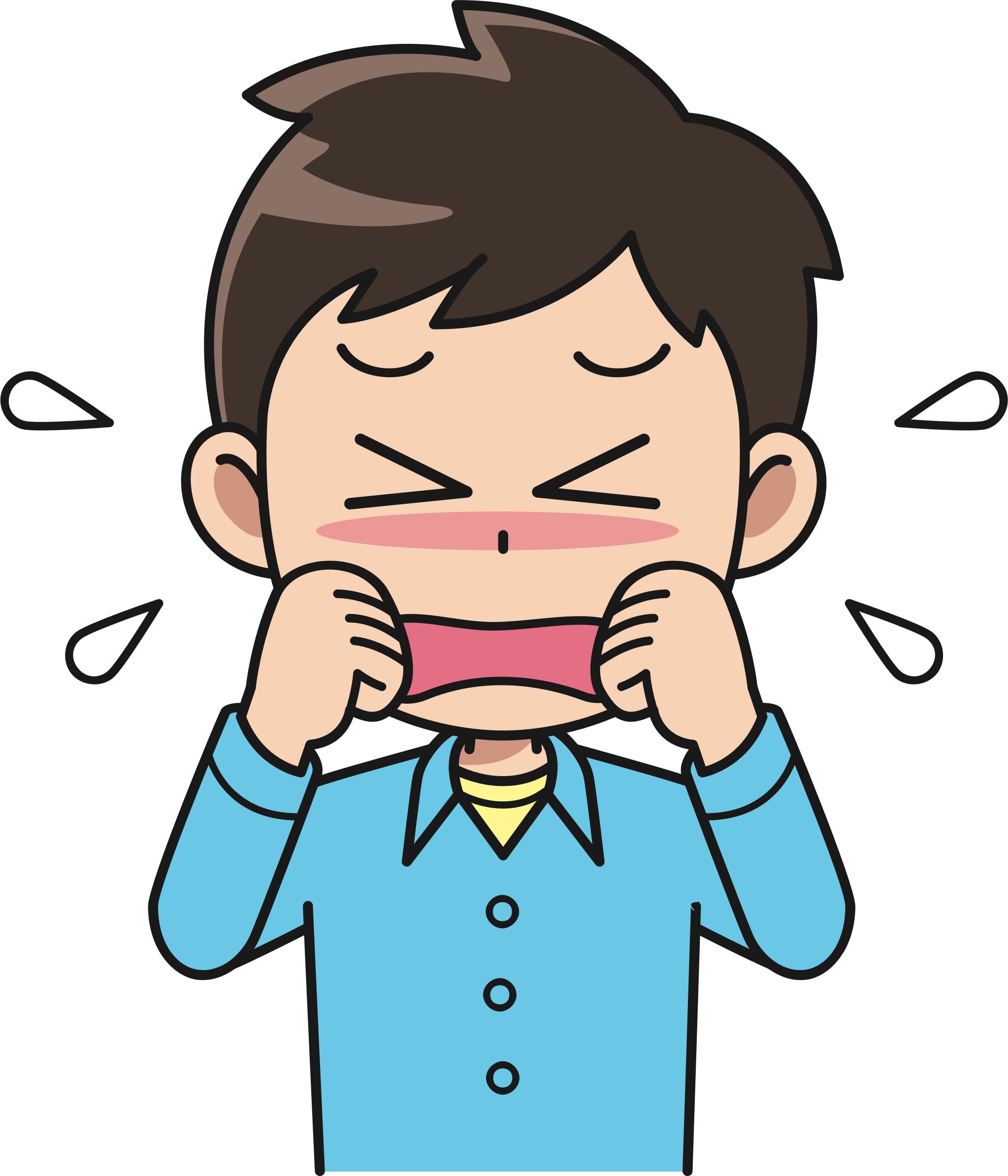 Crying clipart. Male big image png