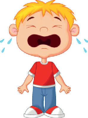 Crying clipart. Young boy cartoon the