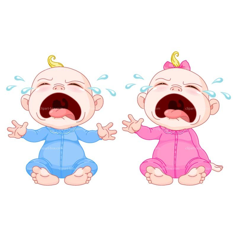 Cry clipart baby shower baby. Great for a twin