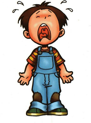 Cry clipart student. Crying child scrapbook three