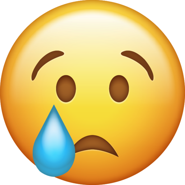 Cry emoji png. Download crying iphone icon
