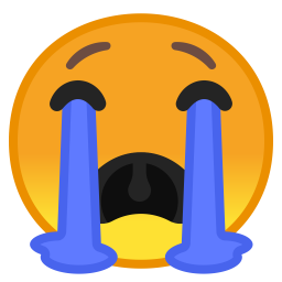 Cry face png. Loudly crying icon noto