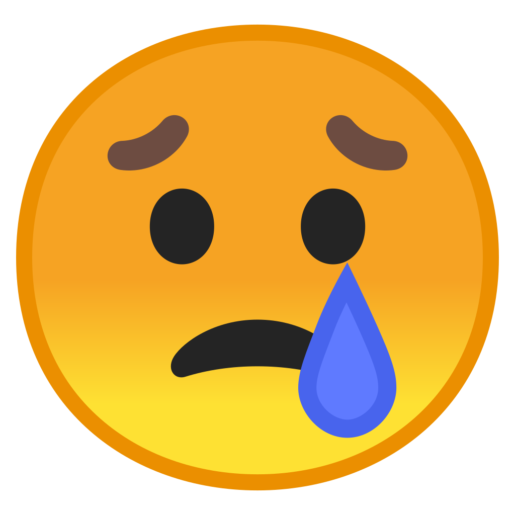 Cry face png. Crying icon noto emoji