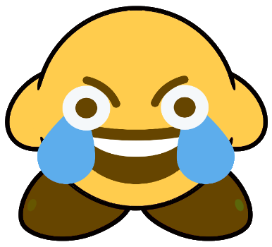 Ecksdeekirbee discord. Open eye crying laughing emoji png jpg library stock