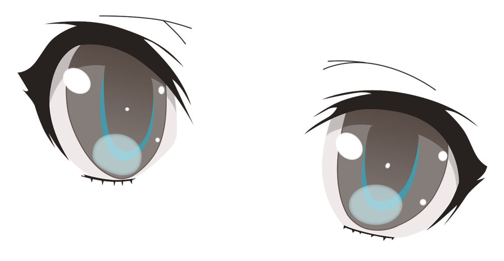 Crying anime eyes png. Miuna shiodome by scriptedillusion