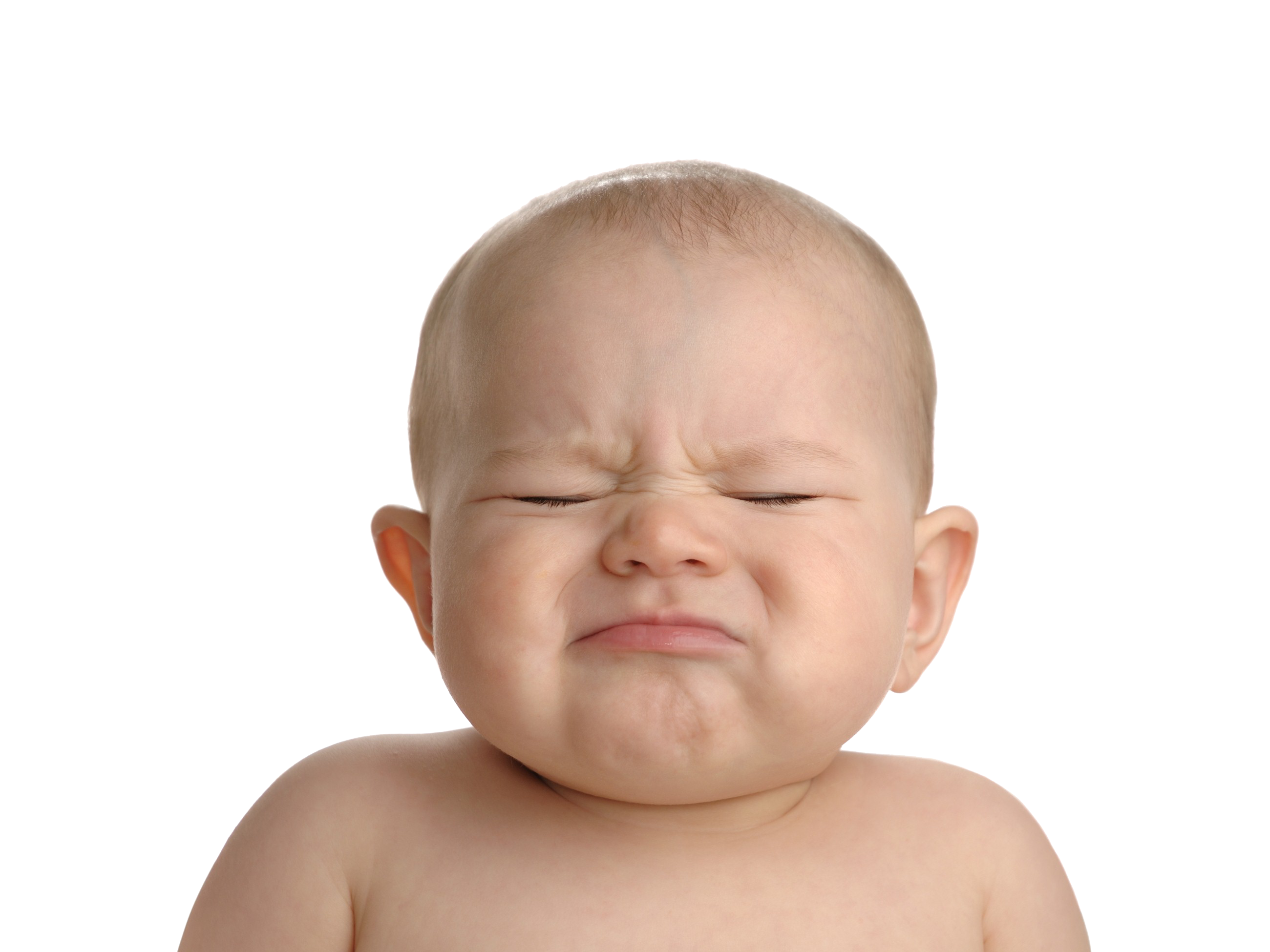 Crying baby png. Image with transparent background