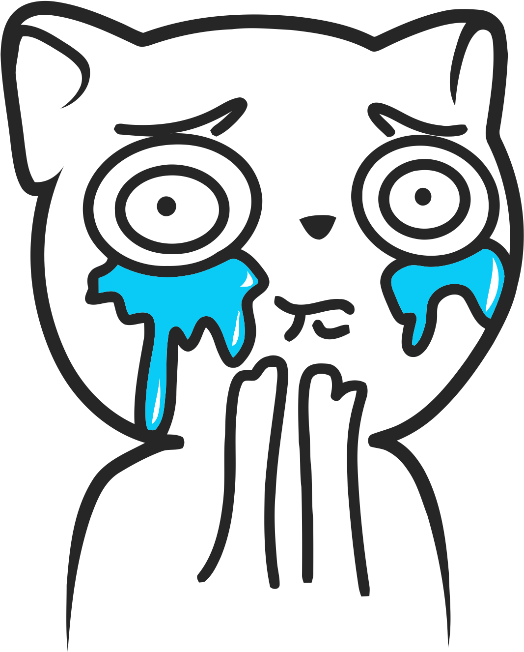 Crying meme png. Download cat overload l