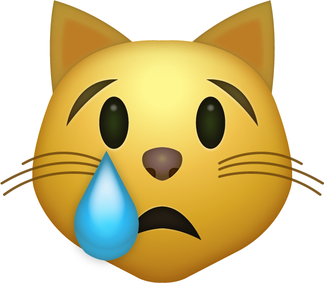 Crying cat png. Download iphone emoji icon