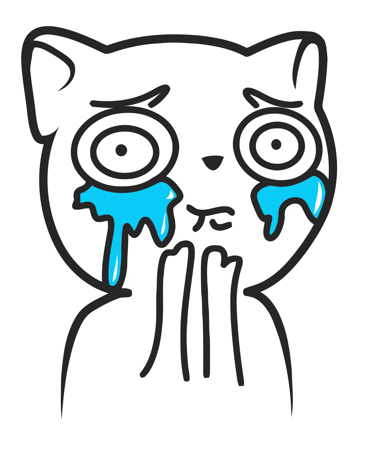 Crying cat png. Rage face script