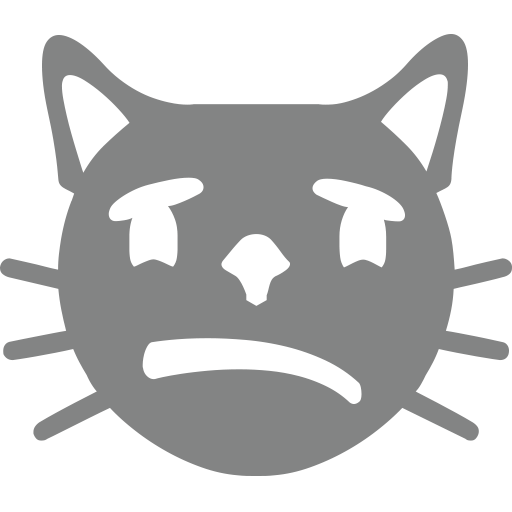 Crying cat png. Face emoji for facebook