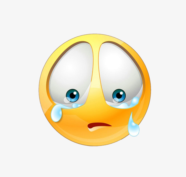 Crying clipart. Three dimensional sad expression