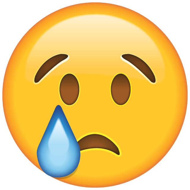 Cry face png. Download crying emoji icon