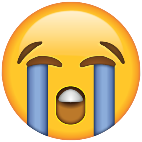 Cry face png. Download loudly crying emoji