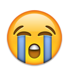 Emojis drawing sad face. Loudly crying birthdays emoji