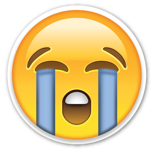 Cry face png. Loudly crying emojistickers com