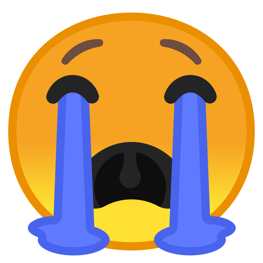 Crying face emoji png. Loudly icon noto smileys