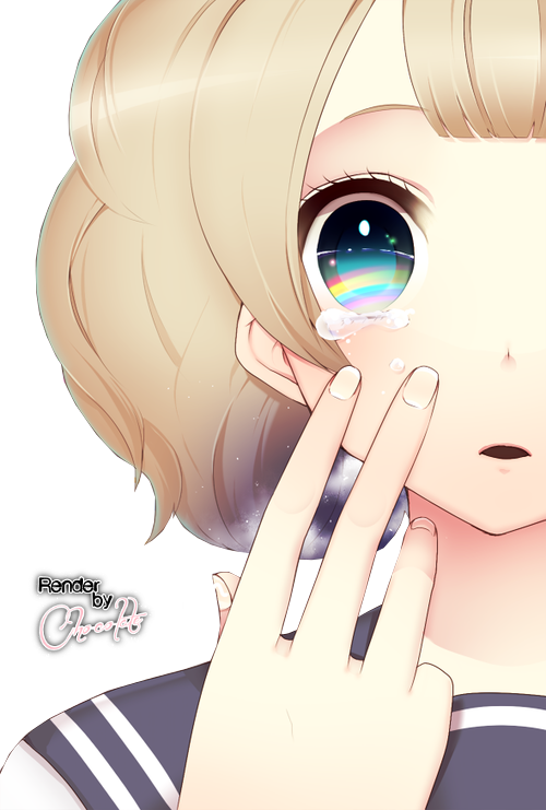 Crying girl png. Render by schokoladeneisx on