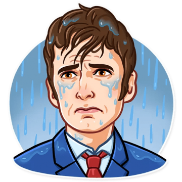 Crying man png. Dr who