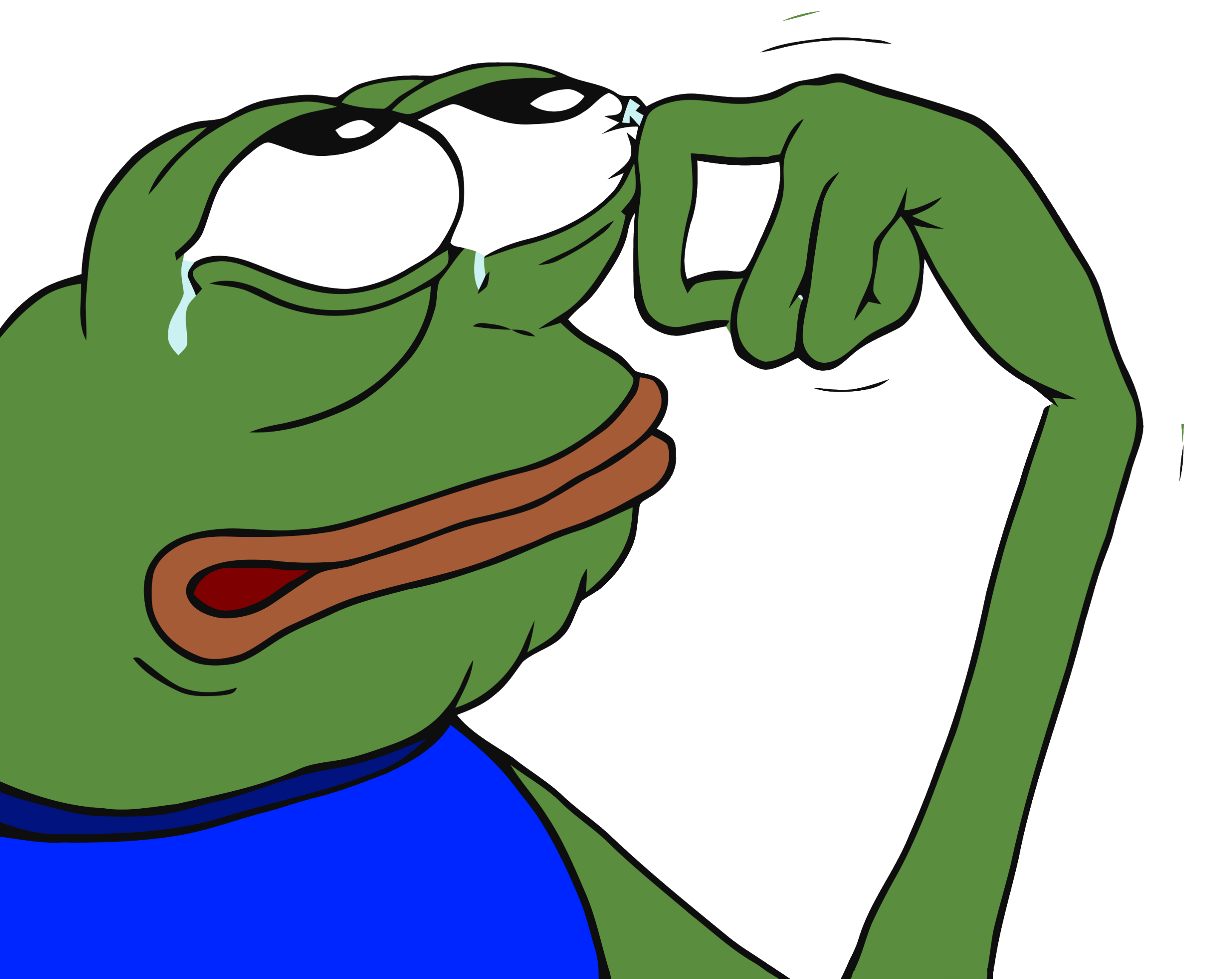 Crying meme png. Pepe transparent stickpng