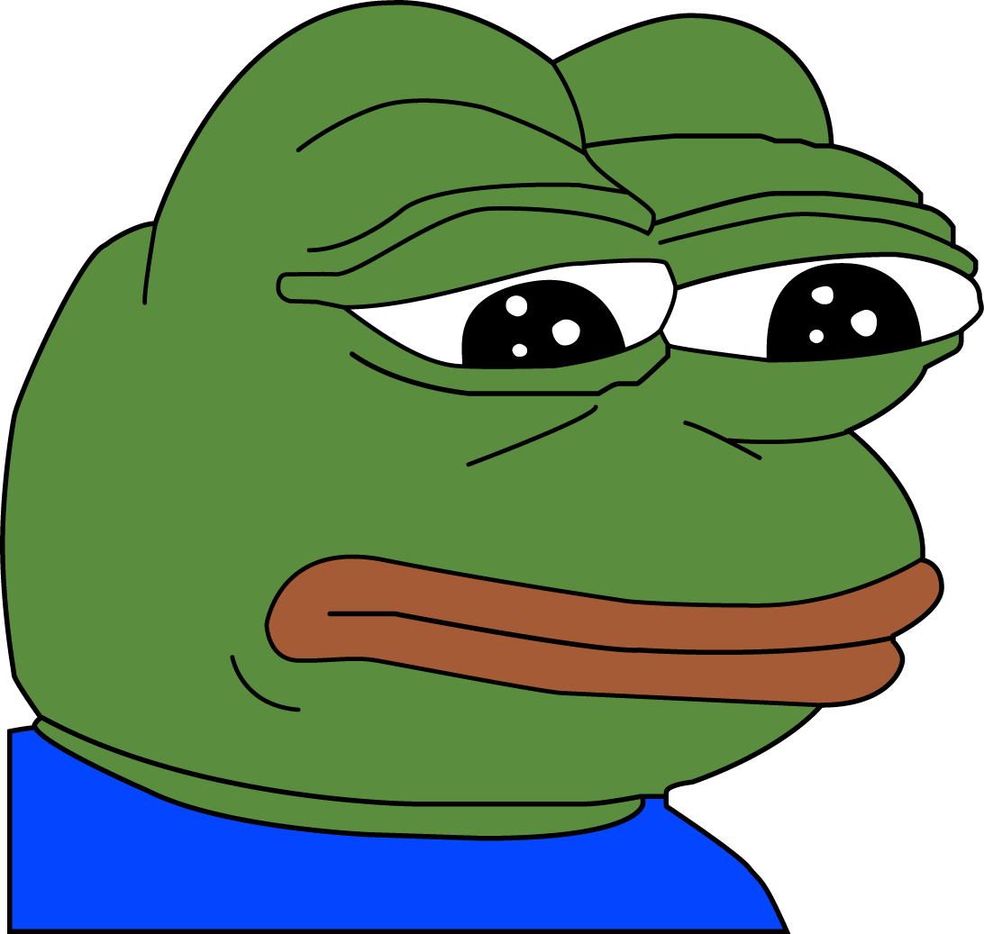 Feelsbadman emoji png. Sad pepe transparent stickpng